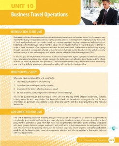 Unit 10 Business Travel Operations eUnit (2010 specifications)
