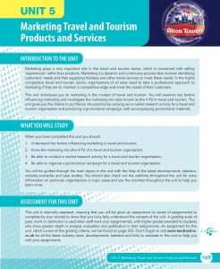 Unit 5 Marketing Travel and Tourism Products and Services eUnit (2010 specifications)