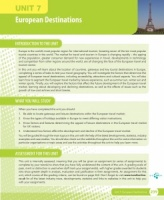Unit 7 European Destinations eUnit (2010 specifications)