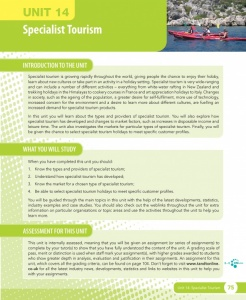 Unit 14 Specialist Tourism eUnit (2010 specifications)