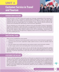 Unit 4 Customer Service in Travel and Tourism eUnit (2010 specifications)