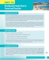 Unit 23 Residential Study Visit in the Travel and Tourism Sector eUnit (2010 specifications)